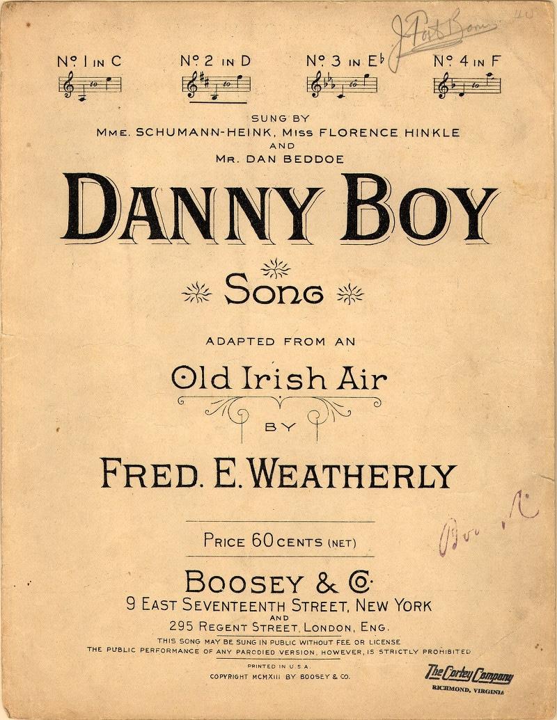 Danny Boy - régi ír dallamra írta Frederick Edward Weatherly